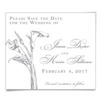 Allure Calla Lily Save the Date Magnet