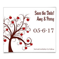 Apple Tree Save the Date Magnets