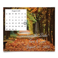 Autumn Road Save the Date Magnets