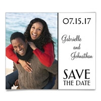 At Last Photo Save the Date Magnet