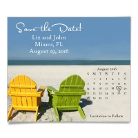 Beach Chairs Save the Date Magnets
