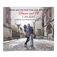 Bella photo save the date wedding magnet