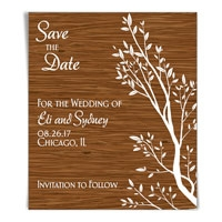 Bamboo Garden Save the Date Magnets