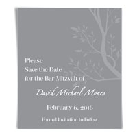 Blessings Bar Mitzvah Bat Mitzvah Save the Date Magnet
