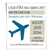 Boarding Pass ave the Date Magnets