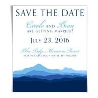 Blue Ridge Mountain Save the Date Magnet