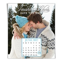 Calendar Vertical Save the Date Magnet