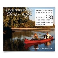 Calendar Horizontal Photo Save the Date Magnets