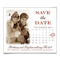 Calendar Couple Save the Date Magnet