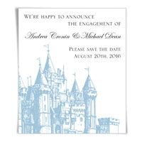 Castle Save the Date Magnets