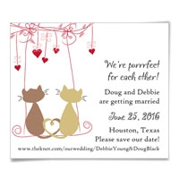 Cat's Meow Save the Date Magnets