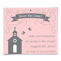 Chapel Save the Date Magnets