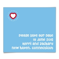 Corner Heart Save the Date Magnets