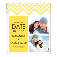 Chevron Save the Date Magnet