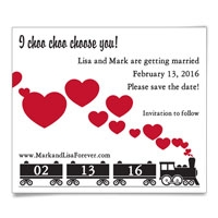 Choo Choo Train Save the Date Magnet
