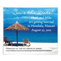 Chairs on Beach Save the Date Magnets