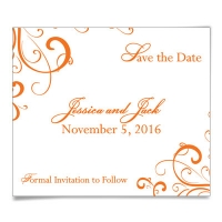 Corner Scroll Save the Date Magnets