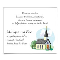 Church Wedding Save the Date Magnets