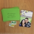 Blissful photo save the date magnets shown with guest address printed Iguana envelopes. Postage not included.