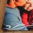 This is a close up photo of the Paris save the date magnet design to better show the swirls.