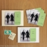 Wedding magnet holders are available in white or ivory card stock.
